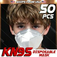 50x KN95 Protective Face Mask BFE 95% PM 2.5 Disposable 5 Layer Respirator