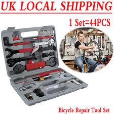 44pc Bike Cycling Bicycle Maintenance Repair Hand Wrench Tool Kit Set Box Case