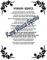 Ancient Psychic Vision Spell Wicca Book of Shadows Pagan Witchcraft Ritual