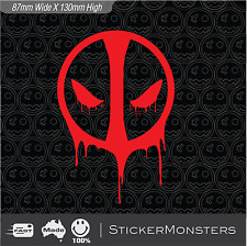 2X DEADPOOL Decal  (Wade Wilson) - Marvel Universe 130mmH PS4  Car Laptop Vinyl.