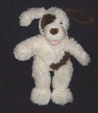 BUILD A BEAR BROWN & WHITE SPOT FUZZY PUPPY DOG STUFFED ANIMAL PLUSH TOY BABW