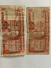 Government Of Gibraltar £1 Note 1979 Lot Of Two Notes, In Circulated Condition