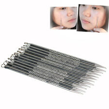 12Pcs Blackhead Acne Pimple Spot Remover Needle Tool Facial Clear Extractor Safe