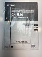 AIWA CX-ZL10 & CX-ZL11 Original Operating Instructions Manual. Used OEM