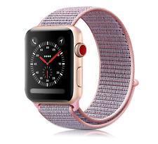 Apple Watch Pink Sand Nylon Loop 38mm Wrist Band Sport Hook Series 1 2 3