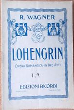 1930s libretto teatro LOHENGRIN Riccardo Wagner Opera Romantica -G.Ricordi