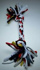 BRAND NEW t-shirt rope dog toy Black Red White Gray Over 1 foot long!
