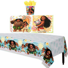 Disney Moana Girls Birthday Party Pack 33 pc ~ Plates Cups Napkins Table Cover