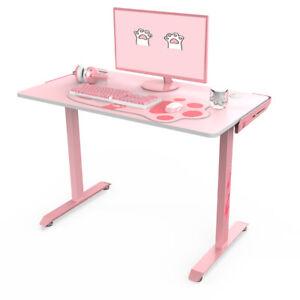 "*SALE* NEW Eureka Quality Ergonomic I1-S 45"" Gaming Office Desk - Pink"