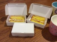 50 White Single Slice Wedding - Party Cake Boxes BUDGET Favour Boxes