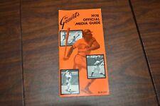 Vintage 1978 San Francisco Giants MLB Press Radio Media Guide Baseball