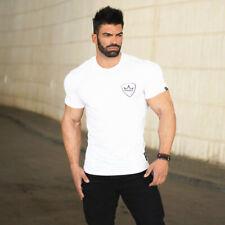 Men's Gym Workout Training Tee Bodybuilding Muscle Shaper Casual Fashion T-Shirt