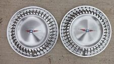 NOS 1960 Chevy Corvair Monza HUB CAPS Original GM stainless coupe hardtop