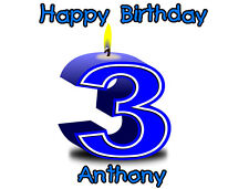 Birthday Number Frosting Sheet Cake Topper  w/FREE Personalization