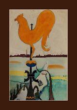 Unikat Gemälde P.J. Becks, signiert, Wetterhahn um 1930 akademischer Maler  xxxx