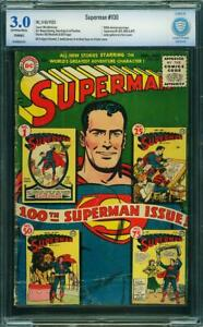SUPERMAN  #100   Awesome KEY GOLDEN AGE! NICE!   CBCS NOT CGC