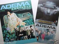"ADEMA ""UNSTABLE & INSOMNIAC'S DREAM"" U.S. PROMO POSTERS - Bakersfield Rocks!"
