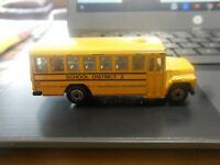 MATCHBOX SCHOOL BUS DISTRICT 2 YELLOW 1985 77 MM LONG pre owned