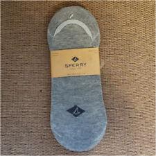 Sperry Men's (3) Pair No Show Gray Socks - Mid Vamp Liner Boat Shoe Socks (6-12)