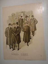 Vintage Color Mens Clothing Art Lithograph #225-229 / Fall & Winter 1911 & 1912