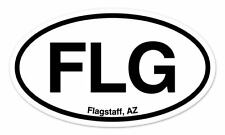 "FLG Flagstaff Arizona Oval car window bumper sticker decal 5"" x 3"""