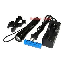 UltraFire 501B 18650 CREE XM-L T6 LED 3Mode Flashlight Torch + Mount Battery Set
