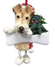 Wire Fox Terrier Dangling Ornament # 56