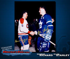 MAURICE RICHARD & ALLAN STANLEY SIGNED Montreal & Toronto 16 x 20 Photo
