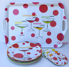 Rosanna Flavored Martinis 9 Piece Cocktail Bar Set NEW