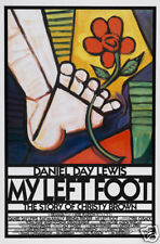 My left foot Daniel Day Lewis cult movie poster print