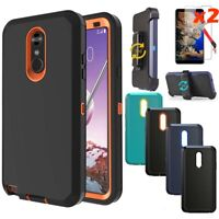 For LG Stylo 5/5+/4 Plus Case Holster Stand Belt Clip Cover + Screen Protector