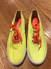 GOTTA FLURT Neon Lime & Orange Tye Dye Athletic Sneakers Womens Shoes Sz 8.5 #