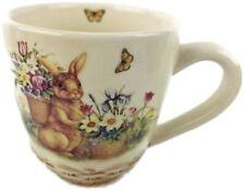 Cracker Barrel EASTER TREASURES Mug Butterfly Flowers Basket Tulip