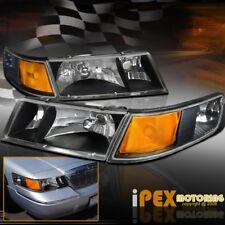 1998 2002 Mercury Grand Marquis Black Headlights W Corner Signal Lights