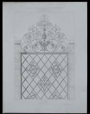 OFFENBOURG, OFFENBURG, GRILLE, FERRONNERIE - 1867 - GRAVURE ARCHITECTURE