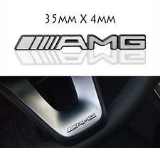 AMG Steering Wheel Sticker Badge Logo Emblem Mercedes Benz Alloy Smart Class