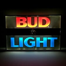 Vintage Bud Light Bar Sign Beer Advertising Plastic Neon Electric Man Cave