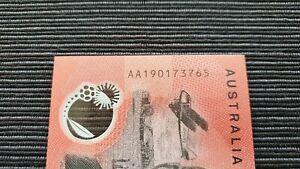 AUSTRALIA $20 2019 LOWE/FRASER FIRST PREFIX AA19 AA UNC Polymer Banknote
