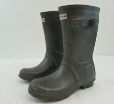 HUNTER ORIGINAL SHORT WELLIES / WELLINGTON BOOTS - UK SIZE 3 / EU SIZE 35/36#CR#
