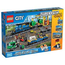 LEGO City 66493 4 in 1 (60050,60052,7499,7895) Remote Control Cargo Train, Depot