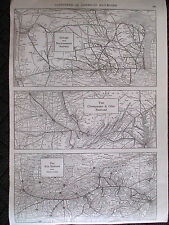 Original 1923 Gazetteer of American Railroads Print Collier Chicago Erie trains