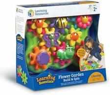 Gears Build And Spin Flower Garden Childs Toddler Toy - 17 Pc - New Boxed