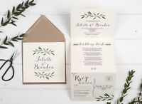 Rustic Wedding Invitation - Natural Woodland