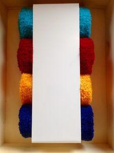 Badregal Handtuchregal Badmöbel selbstklebend Gäste WC Metall weiß geschenk loft