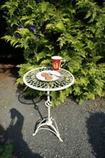 Gartentisch kl+leicht, Bistrotisch romantisch, Beistelltisch zur Gartenbank PINO
