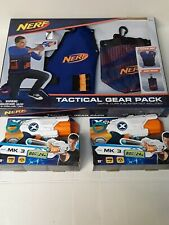 NERF Tactical Gear Pack Vest and Dart Pouch -Includes two handheld blasters.