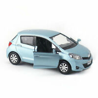 1/36 Scale Toyota Yaris Model Car Diecast Gift Toy Vehicle Pull Back Kids Blue