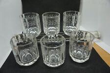 Art Nouveau French Baccarat Crystal Liquor Brandy Whiskey Shot Glass Cups Set