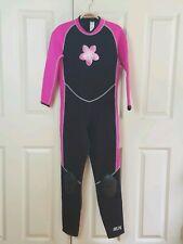 L. L. Bean Camrro Youth Girls Wet Suit Full Length XL Neoprene Back Zip Pink Blk