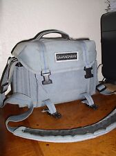 Quantaray QS-P Photo Bag w/ Shoulder Strap - Gray w Blue Trim (#44-166-0800)